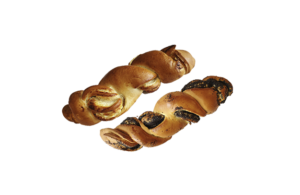 Závin motaný makový, ořechový, tvarohový